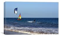 Surfer in Santa Barbara, Canvas Print