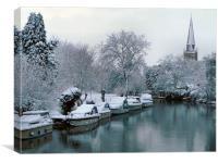 Thames at Abingdon, Canvas Print