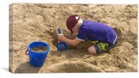 Making Sandcastles, Canvas Print