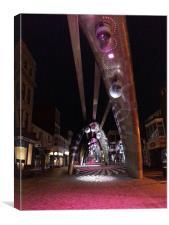 Blackpool at night, Canvas Print