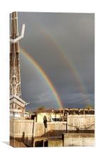 Double rainbow, Canvas Print