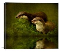 Otters Watch, Canvas Print