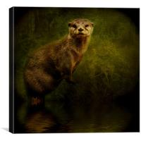 Otter Watch, Canvas Print