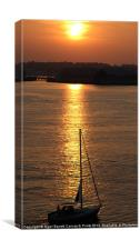 Sunset over River Tamar, Canvas Print