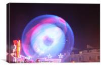 Ride Light ball, Canvas Print