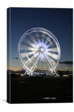 Weston Wheel in Motion at Dusk, Canvas Print