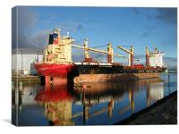 Ships reflect, Canvas Print