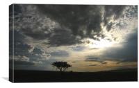 Dramatic skys over Kenya, Canvas Print
