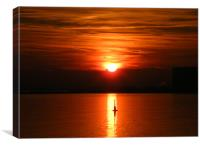 Relaxing Sun Set, Canvas Print
