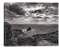 Stormy skies Over Lands End, Canvas Print