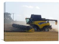 New Holland with dust, Canvas Print