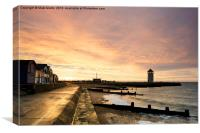 Brightlingsea sunrise, Canvas Print