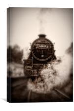 Steam Train - 45212 Locomotive Head On, Canvas Print
