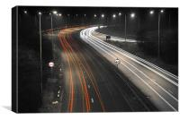 Southbound on the A38, Derbyshire, Canvas Print