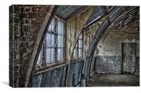 Interior of a dissused Nissen Hut, Canvas Print