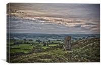 The Alport Stone at Alport Heights Derbyshire, Canvas Print