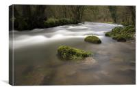 The River Wye, Chee Dale Derbyshire, Canvas Print