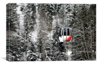 Swiss Alps Cable Car, Canvas Print