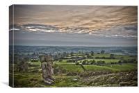 The Alport Stone at Alport Heights Derbyshire, Canvas Print
