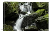 Lumsdale Waterfall Derbyshire, Canvas Print