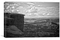 Curbar Edge, Derbyshire, Canvas Print