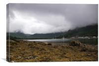 Cloudy Lochranza, Canvas Print