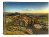 A classic view of The Great Ridge in The Peak Dist, Canvas Print
