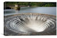 Ladybower Reservoir Plug Hole, Canvas Print
