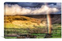 Rainbow over Edale., Canvas Print