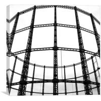 Disused London Gasometer, Canvas Print