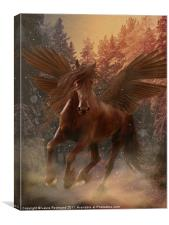 Pegasus brown, Canvas Print