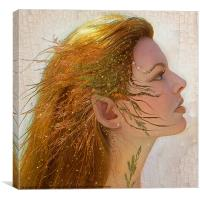 An Autumn Fairy face, Canvas Print