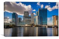 Canary Wharf From Backwall Basin