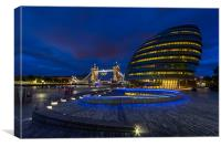 City Hall & Tower Bridge, Canvas Print