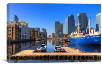 On The Dock At Canary Wharf, Canvas Print