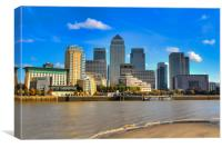 Canary Wharf In The Sun, Canvas Print