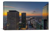 Sunset From 27 Floors Up, Canvas Print
