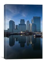 Canary Wharf Blues, Canvas Print