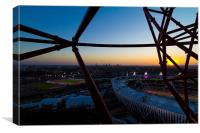 Dusk At The Olympic Park, Canvas Print