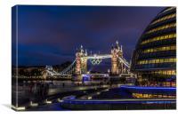 City Hall & Tower Bridge II, Canvas Print