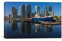 Canary Wharf Reflections, Canvas Print