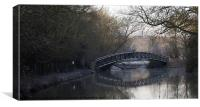 Frosty Bridge Shipton on Cherwell, Canvas Print