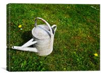 Watering can, Canvas Print