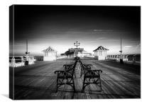 Promenading Cromer Pier, Canvas Print