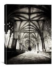 Time at the cloisters, Canvas Print