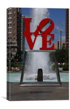 love park, Canvas Print