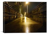 rainy night, Canvas Print