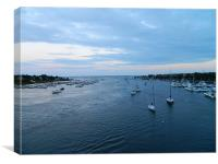 boat harbor, Canvas Print