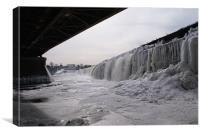 frozen water fall, Canvas Print