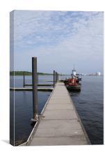 boat dock, Canvas Print